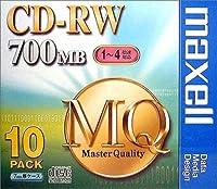 maxell CDRW MQシリーズ CDRW80MQ1P10S CD-RWディスク(700MB/10枚)