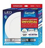 Garza - Downlight LED con soporte ajustable universal para superficie o empotrable en techo