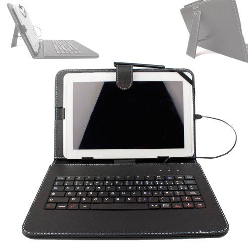 """DURAGADGET Etui Noir + Clavier intégré AZERTY (français) pour Archos Access 101 3G / Core 101 3G / Junior Tab 10.1 Tablette Tactile 10.1"""" + Stylet Bonus"""