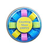 Vxhohdoxs 100 Zählchips, Kunststoff-Marker, 25 mm, verschiedene Farben, für Bingo-Chips, Spielmarken mit Aufbewahrungsbox -