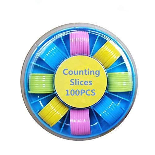 Ocobudbxw 100Pcs Zähler Zählen von Chips Kunststoff-Marker 25 mm Mischfarben für Bingo-Chips Spielmarken mit Aufbewahrungsbox