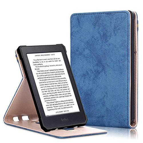 XIAOMIHU Funda Universal para Lector de Libros electrónicos Caja Inteligente para Kobo NIA 2020 PU Cuero Stand Stop Tapa para Todo Nuevo Kobo Nia 6 Pulgadas Funda Capa, Haz Lectura más fácil