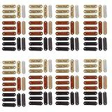 Etiqueta Ropa,120 Piezas Etiquetas Cuero Handmade,Etiquetas para Costura Bricolaje,para Bolsos,Muñecas Hechas a Mano,Prendas de Punto,Ropa,Sombreros,Bufandas 4.5X1.2cm(Negro Chocolate Amarillo)