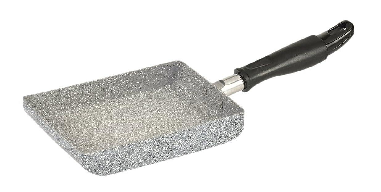 困難フラスコ導入するパール金属 卵焼き 13×18cm IH対応 玉子焼き器 内面マーブルストーンコーティング ストーンテック ワコートレーディング HB-7701