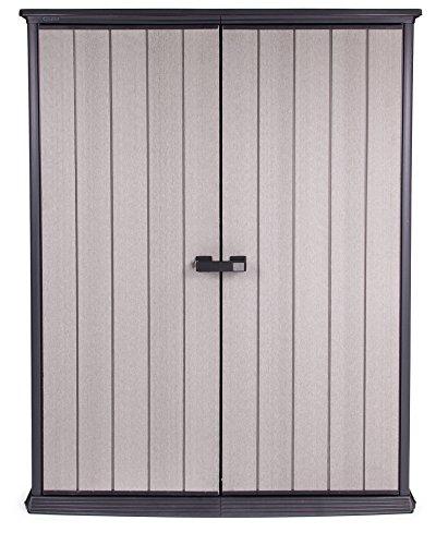 *Ondis24 stabwetterfestes Gerätehaus mit breit öffnenden Türen mit ilem Griff aus Duotec mit Boden, Geräteschrank Schuppen, abschließbar, anstreichbar, 1500 Liter Volumen*