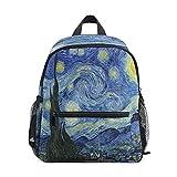 Van Gogh Starry Night Art Rucksäcke Vorschultaschen Wasserdichte Kinder Kleinkinder Büchertasche...