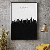 QianLei Calgary Skyline Leinwand Malerei Kunstdruck Poster