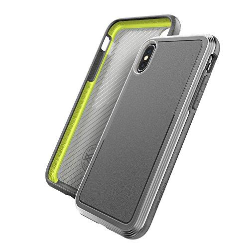 X-Doria Defense Ultra Series - Carcasa Protectora Resistente con Marco de Aluminio anodizado, Grado Militar para Apple iPhone X, iPhone 10, Color Negro