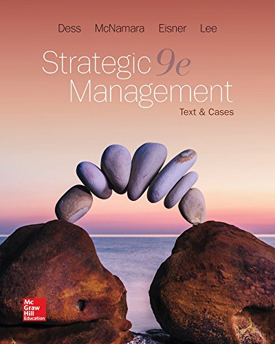Strategic Management: Text and Cases 9th Edition Front Cover