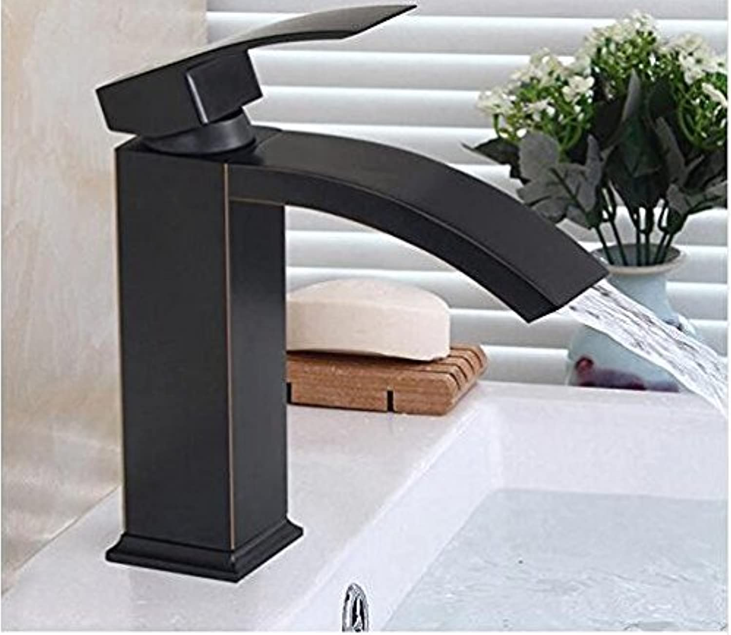 Diongrdk Basin Faucet Bathroom Black Oil Rubbed Bronze Faucets Sink Mixer Water Tap Single Lever Tap