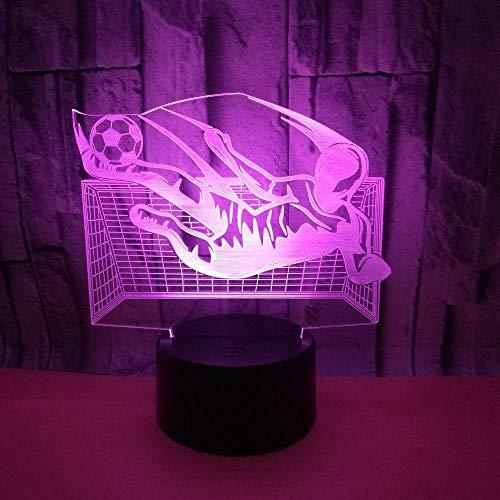7 Farb Touch 3D Nachtlicht, Mit Fernbedienung Led Optische Illusionslampe, Dimmbaren Funktionen Usb Deko Schreibtisch Tischlampe, Für Mädchengeschenk, Spiel Fußball