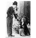 Wandkunst Bild Charlie Chaplin Leinwand Poster Wohnkultur