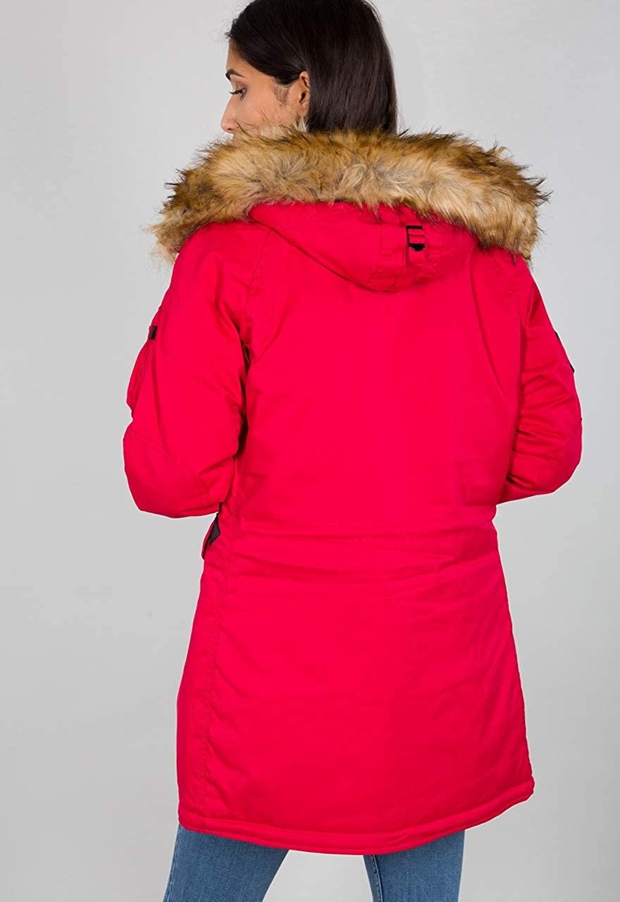 ALPHA INDUSTRIES Damen Explorer Wmn Jacke Rouge