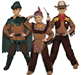 Ciao 10050-3 in 1 West: Indiano, Cow Boy, Robin Hood, 6-8 Anni, Marrone/Verde