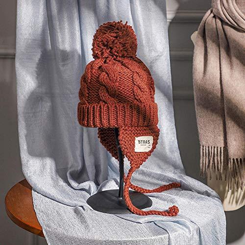 Codoyco_lothlz Angel-Hüte Für Damen Warme Mütze Herbst Und Winter Damenmode Winter Gehörschutz Radmütze Winterrost Rot_M (56-58Cm)