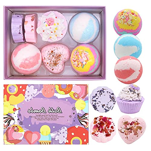 7Pcs Special Shape Bath Bombs Gift Set with Essential Oils Spa Bubble for Women mould cleaner for tilesmould paint for wallsmould remover spray for wallsmould cleaner for wallpapermould cleaner for