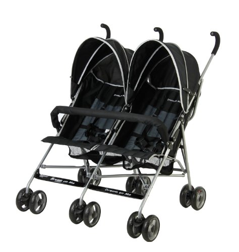 Dream On Me Double Twin Stroller, Black