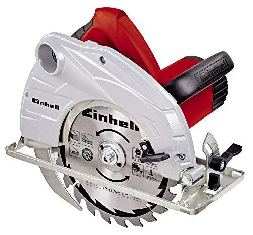 Einhell Scie circulaire TC-CS 1400 (1400 W, 24 dents, Démarrage progressif, Livré avec butée parallèle et clé pour changement de lame)