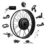 EBIKELING 48V 1200W 26' Fat Direct Drive Waterproof Electric Bike Kit - Ebike Conversion Kit - Electric Bike Conversion Kit (Rear/LCD/Thumb)