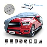 Tecoom HD Super Breathable Truck Pickup Cover Breathable Waterproof Windproof with Antenna Patch All Season Weather-Proof Fit Pickup Length Up to 215 Inches