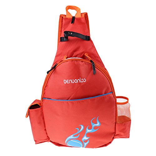 sharprepublic Wasserdichter Tennisschläger Rucksack Abriebfestigkeit Badminton Tasche - Orange