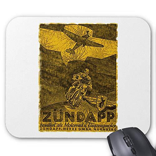 Rutschfeste Gummi-Mauspad für Gaming-zundapp Vintage Werbung abgenutztes Bild
