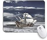 GEEVOSUN Impresión al óleo de Barco de Piratas del Caribe de Cielo Nublado como Imagen...