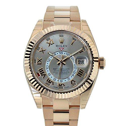 Rolex-Sky-dweller-42mm-Silver-Roman-Dial-Gold-Mens-Watch-326938