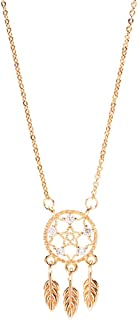 Necklace حلم الماسك قلادة الإناث الحلم الطازج الماسك ريشة شرابة قلادة الترقوة سلسلة هدية المجوهرات Women's Chain Necklaces