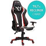 Rg-Max, sedia da ufficio, scrivania e gioco, reclinabile, in finta pelle Red