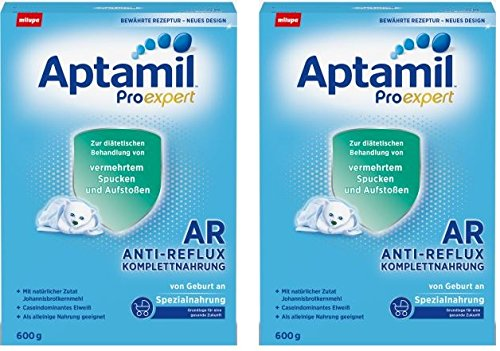 Aptamil ProExpert Anti-Reflux Komplettnahrung ab dem 1. Fläschchen, 2er Pack (2 x 600g)