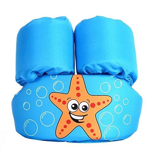 Estrellas de mar impresión de dibujos animados Iatable flotador anillo del flotador del bebé de dibujos animados manga del brazo flotante Chaleco salvavidas anillo de la natación piscina Formación