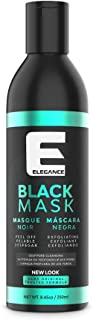 Elegance Black Peel-Off Facial Mask, Blackhead Removal Face Mask, Deep Cleansing Facial Treatment, 8.45 oz