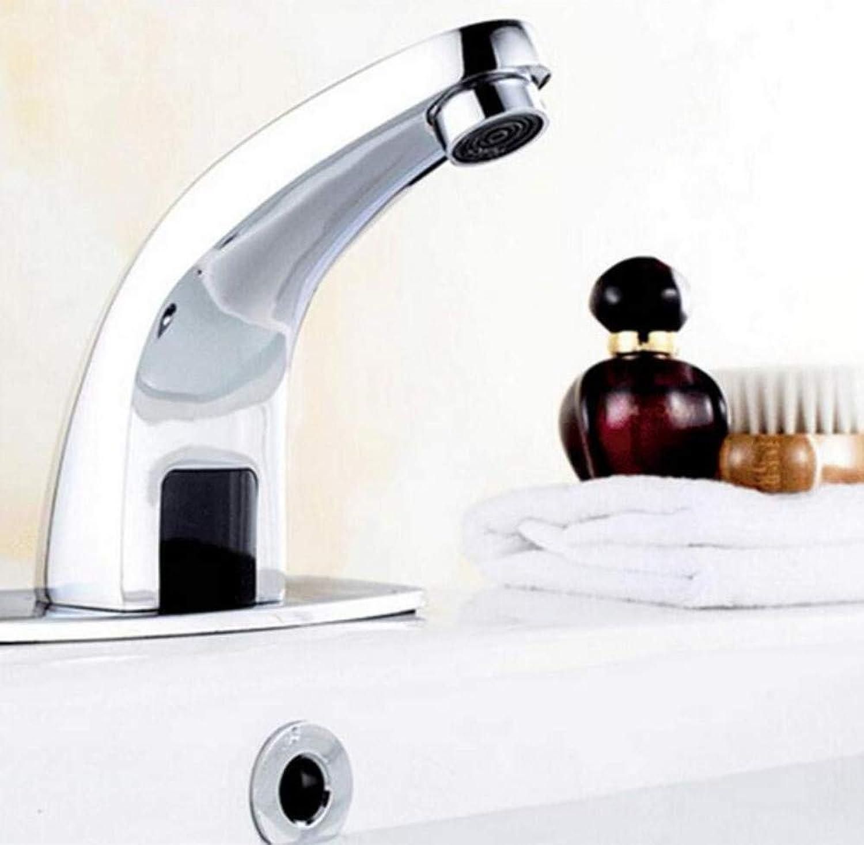 Brass Wall Faucet Chrome Brass Faucet Free Sensor Faucets Water Saving Inductive Electric Water Tap Mixer Battery Power