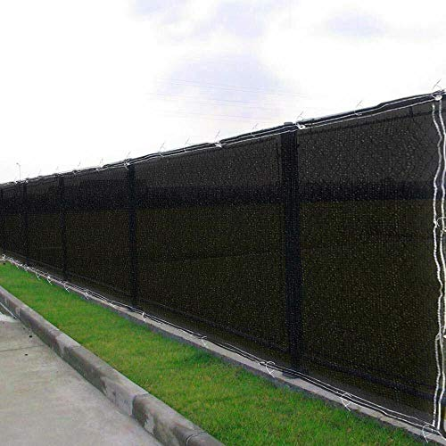 6ft x 50ft Tall Black Privacy Fence Screen Mesh Windscreen Fencing Shade Cover for Construction Sites Scenery Spot Garden Backyard Schoolyard Tennis Court