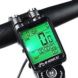 Bainuojia Cuentakilómetros para Bicicleta,Computadora de Montaña, Velocímetro inalámbrico Bicicleta con Pantalla LCD de Retroiluminación para Ciclismo Speed Track Distancia