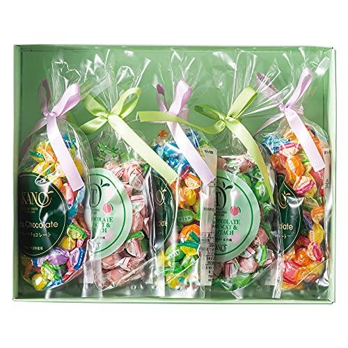 新宿高野 シャインマスカット&白桃チョコ&フルーツチョコ5入EA (プレゼント袋入)