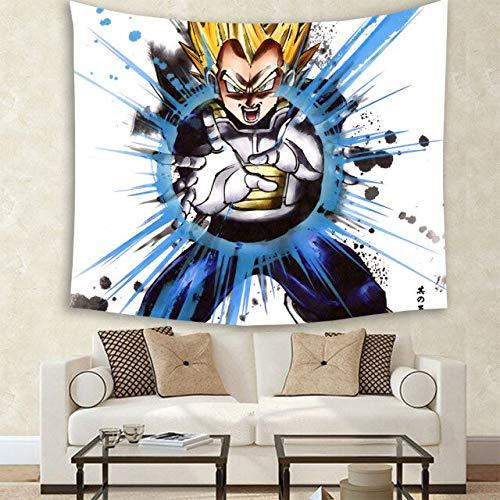 PEKSLA Tapiz Pared Tapices de Pared Popular Anime Dragon Ball Z Pintura 150cmx130cm 6 Tapiz Toalla Playa Sentada Manta Decoración del Hogar