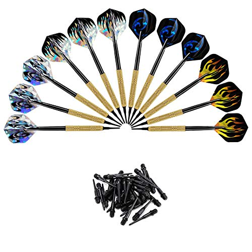 Accmor 12 Pcs Soft Tip Darts, 14g Plastic Tipped...