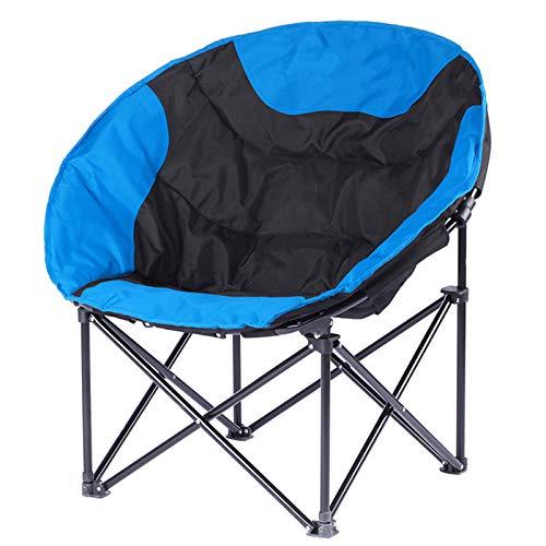 snmi Camping Stuhl gepolsterter Sitz mit Getränkehalter, leichte runde Stühle mit Außentasche, Tragetasche, tragbarer Klappstuhl