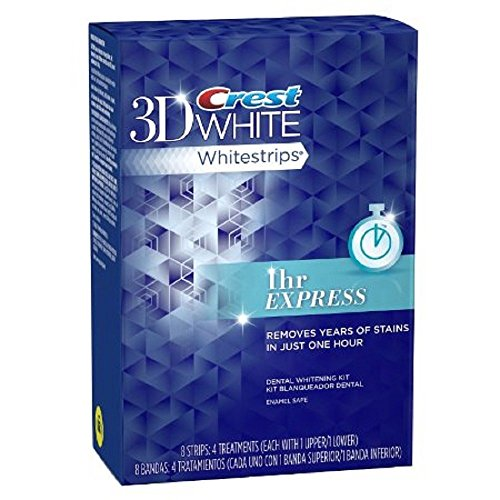 Crest 3d White 1-Hour Express Teeth Whitening Kit, 8 Strips (4 treatments)