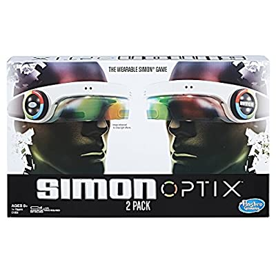 Simon Optix Game - 2 Headsets Included - Wearable Version of a Classic Game - Raise Your Hands in The Correct Color Pattern to Succeed - Play Solo or with Your Friends - Batteries Not Included by Hasbro