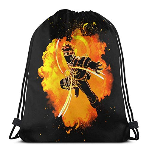 Yuanmeiju Drawstring Bag Sport Gym Sack Party Favor Bags Wrapping Gift Bag Mochila con cordón Storage Goodie Bags Cinch Bags Boom Style Uzumaki Naruto