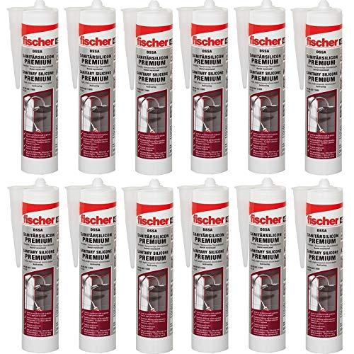 12x Fischer Sanitärsilicon 310 ml weiss