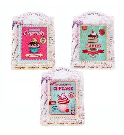 DISOK - Imán Retro Cupcake - Imanes Nevera para Detalles, Recuerdos y Regalos de Bodas Baratos