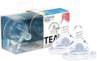 Cherub Baby Wide Neck Slow Flow Anti-Colic Nipples Duo Pack