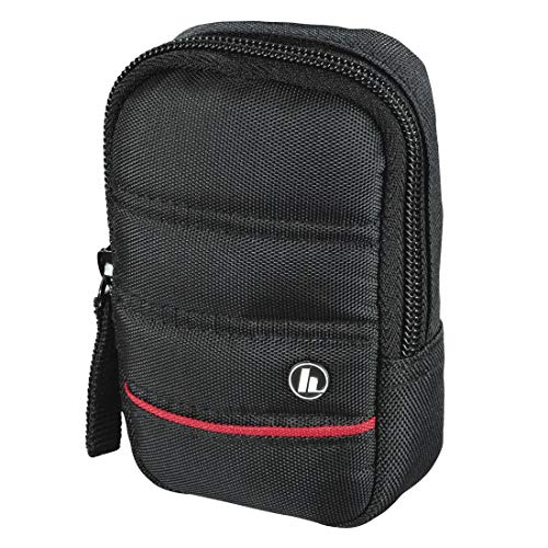 """Hama Kameratasche """"Samara"""" für Digitalkamera (Fototasche klein für Kompaktkamera, mit Gürtelschlaufe, Reißverschluss und Zubehörfach, reißfestes Polyester, 6 x 4 x 11 cm) schwarz"""