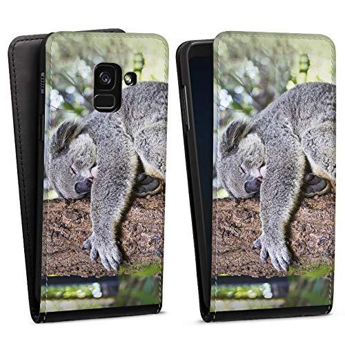 DeinDesign Flip Hülle kompatibel mit Samsung Galaxy A8 Duos 2018 Tasche Hülle Koala Aschgrauer Beutelbaer Tier