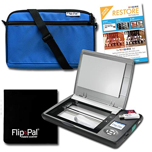 Best Deals! Flip-Pal Restore Bundle: Scanner with Blue Carry case, Lens Cleaning Cloth, and Restore ...