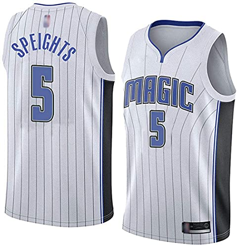 XSJY Jersey De Baloncesto De Los Hombres De La NBA - Orlando Magic # 5 MO Bamba Gimnasio Retro Transpirable Quick-Secking Chaleco Deportivo Tops,C,S:165~170cm/50~65kg